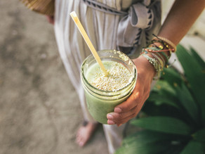The Best Ever Tahini Green Smoothie