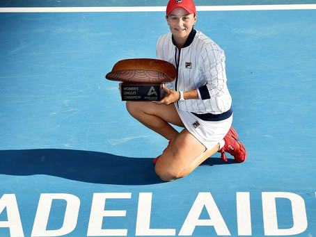 BARTY (AUS) WINS 8TH TITLE IN ADELAIDE