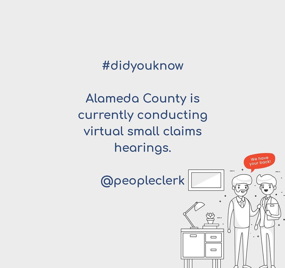 Alameda Small Claims Virtual Hearings