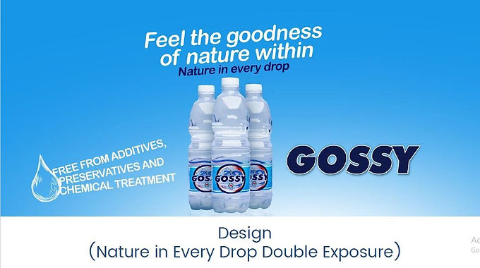 Gossy Water 'Nature in every drop'