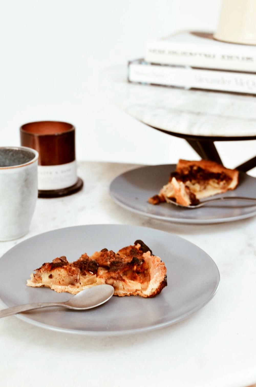 Tarte pomme miel noix que faire des épluchures et des coques