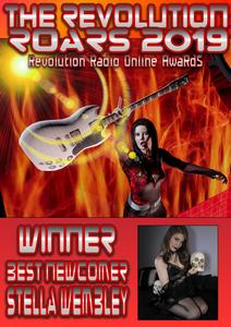 STELLA WEMBLEY WINNER OF BEST NEWCOMER REVOLUTION RADIO ROAR