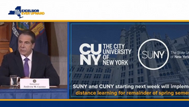 Cuomo Announces SUNY Campuses Will Move to 'Distance Learning' on March 19