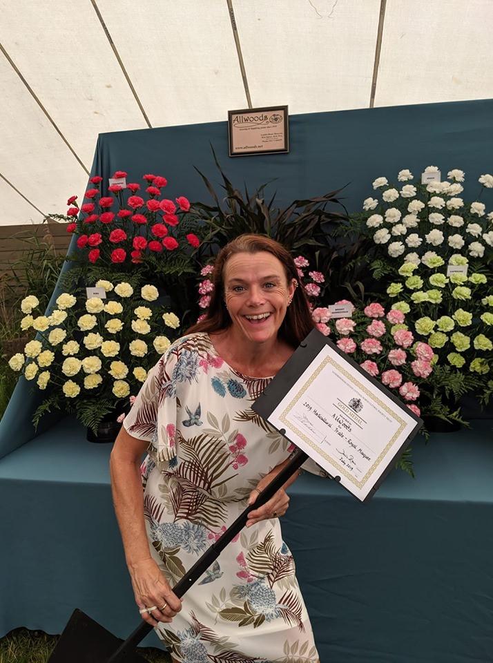 Winning Gold medal at Sandringham Flower Show
