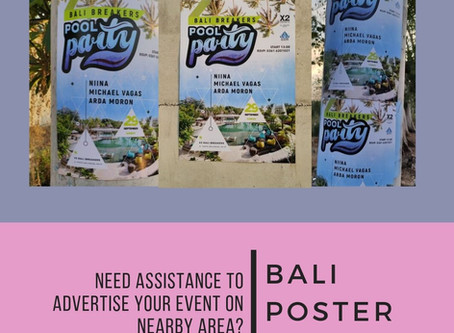 POSTER HELP  ( Event Marketing ) Bali