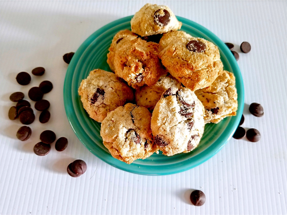 Plate of homemade coconut cookies