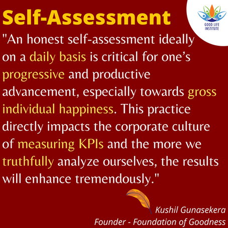 The importance of self-assessment...