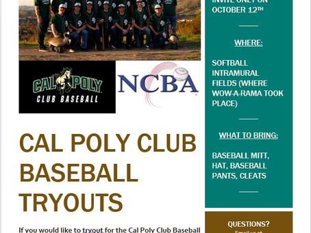 2019-2020 club baseball tryouts