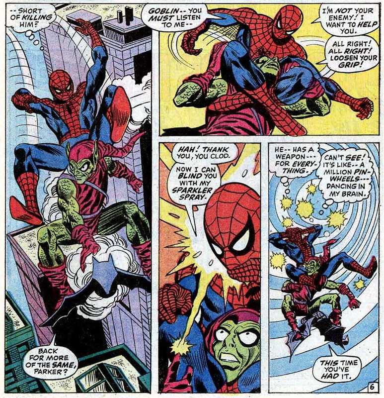 Emotions and doubts in Amazing Spider-Man #97: 'Green Goblin Reborn!' (art: Gil Kane)