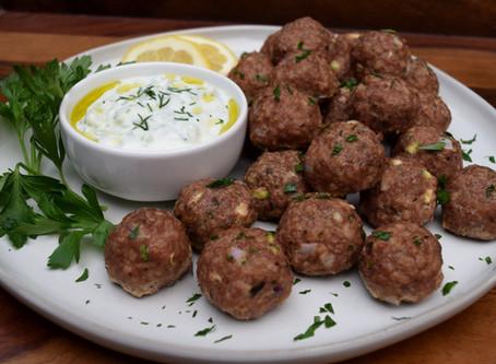 Greek Style Meatballs with Tzatziki Sauce