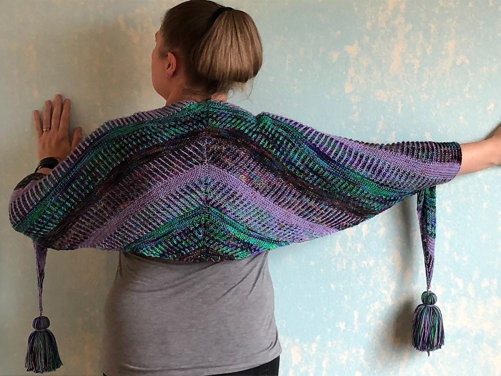 Intergalactic Wrap Knitting Pattern by Shaina Scott aka YumiYarns