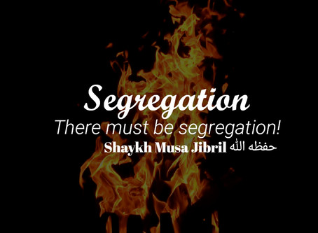 There MUST Be Segregation!!