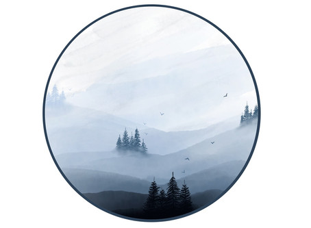 Adobe Fresco - Paint Realistic Watercolor Misty Forest Watercolor