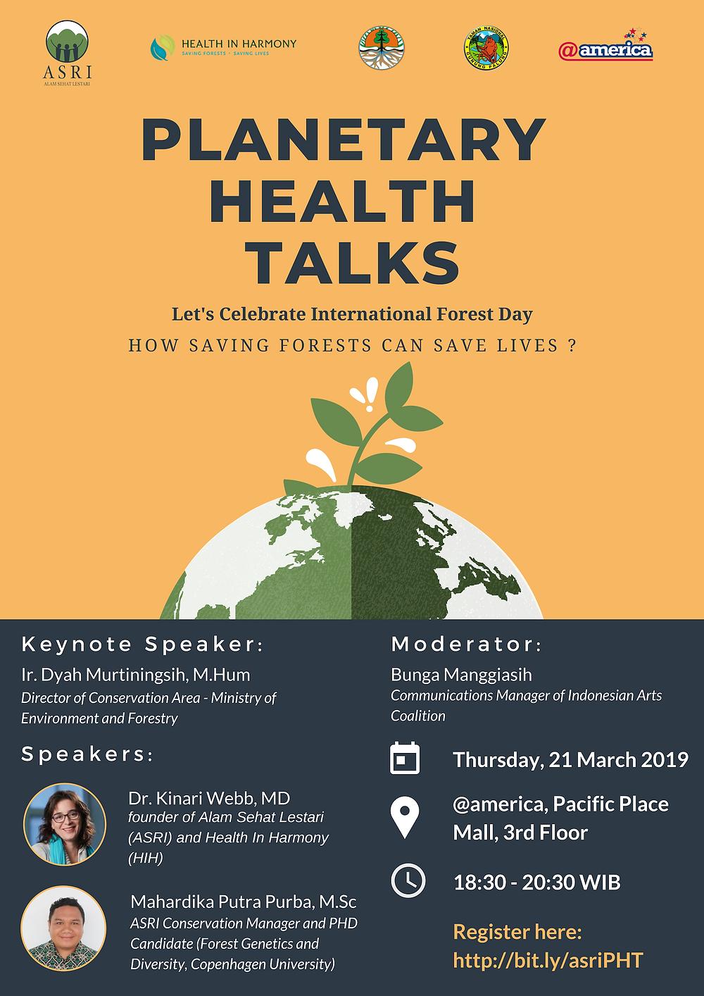 Talkshow menyelamatkan kesehatan bumi dan dunia