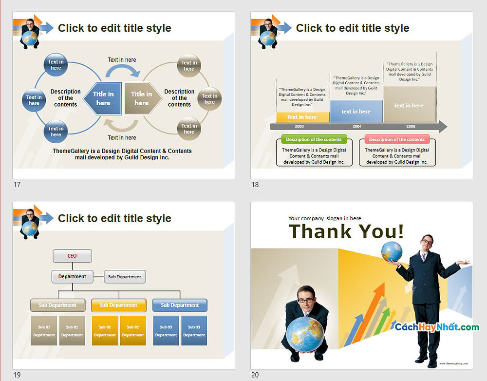 PowerPoint Template 582TGp_GoUp_light