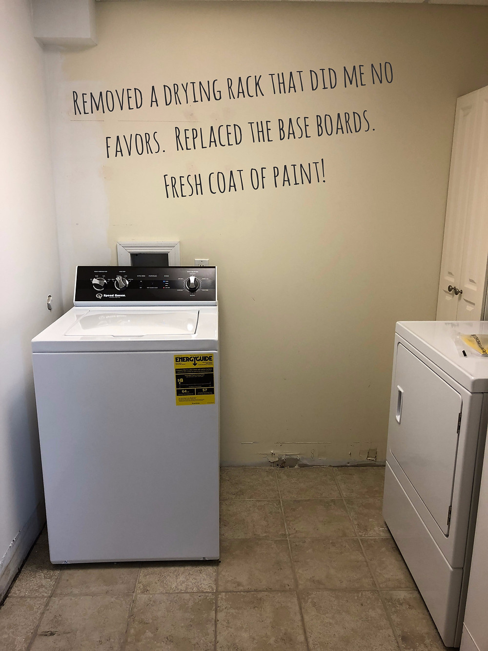 Laundry Room Make Over Tropical Wallpaper