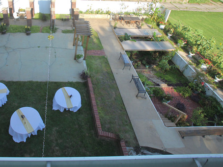 Sunken garden at the wedding reception