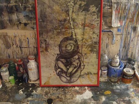 Fetus on Dropcloth - Da Vinci Codex