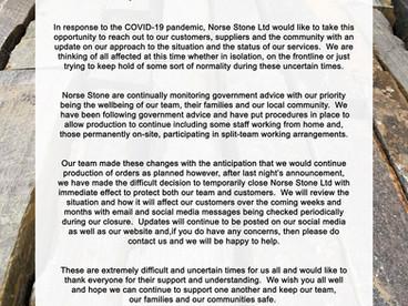 COVID-19 Update: Temporary Closure