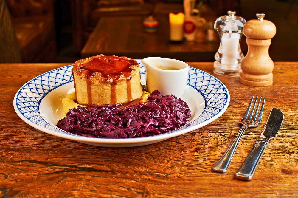 Discover a range of delicious dishes including Steak & Tangle Foot Pie, Hand-Battered Fish & Chips and The Jolly Sailor's famous Burger.