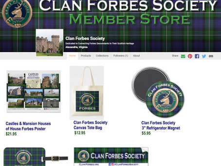 Clan Forbes Store Now Open