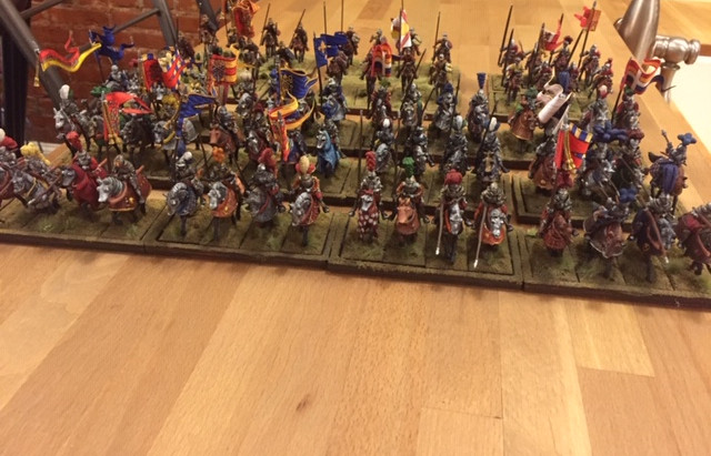 Another 20 Gendarmes painted for the Italian Wars project