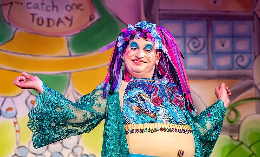 Richard J Fletcher as Dame Dotty Trott in Jack and the Beanstalk at Oldham Coliseum. All pics: Darren Robinson