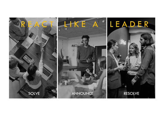 REACT LIKE A LEADER