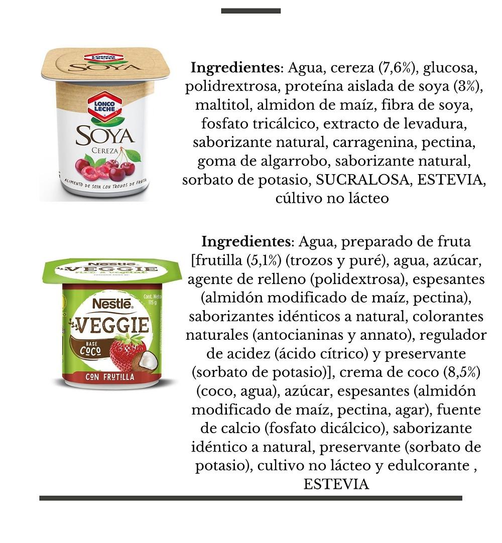 Yogurt Vegetal Lonco Leche Soya, Nestle Veggie - Nutricionista Online Karina Herrera