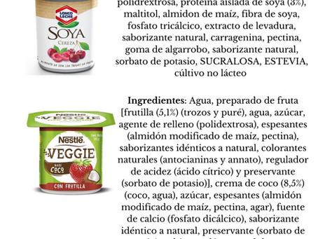 """Comparación de """"yogures"""" vegetales"""