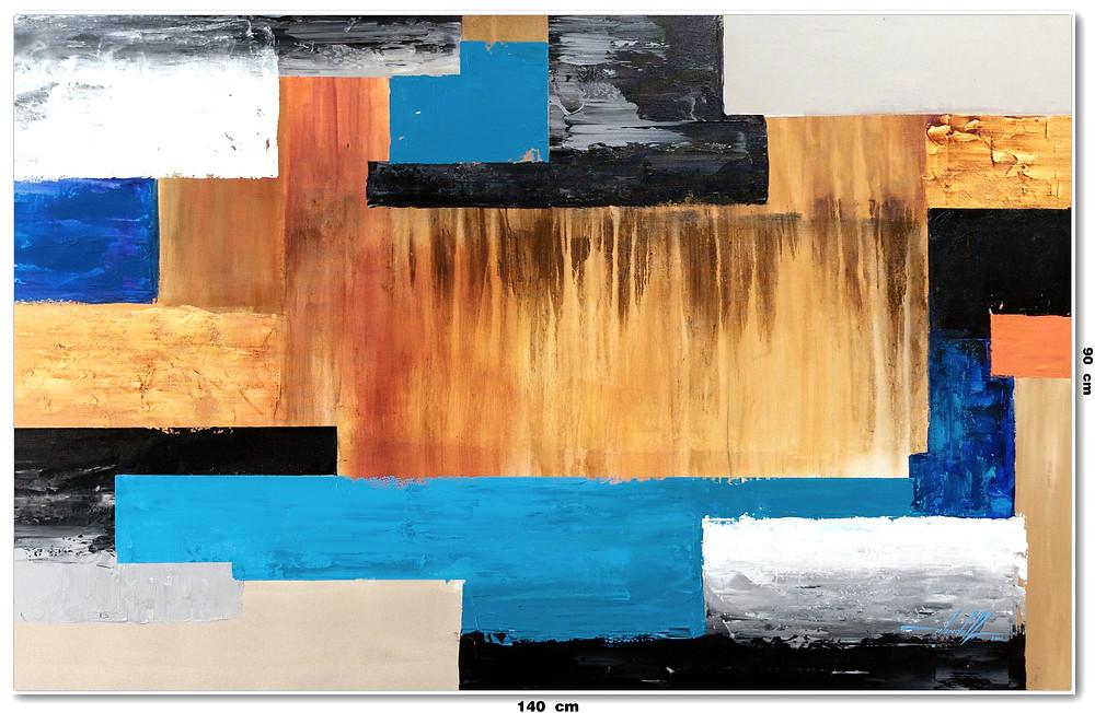Telas Abstratas Multicoloridas