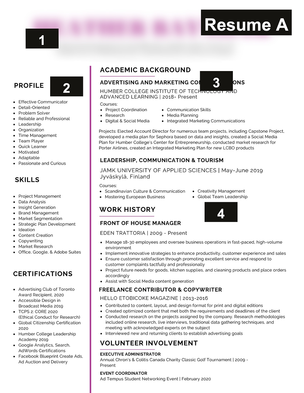 A resume that didn't upload correctly into ATS system
