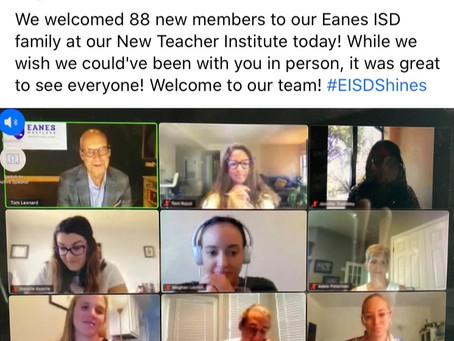 Eanes ISD-New Teacher Institute