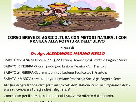 Corso di agricoltura con metodi naturali.