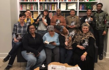 Group photo of graduates of Illinois Humanities' Odyssey Project at the Long Overdue Book Group facilitator training