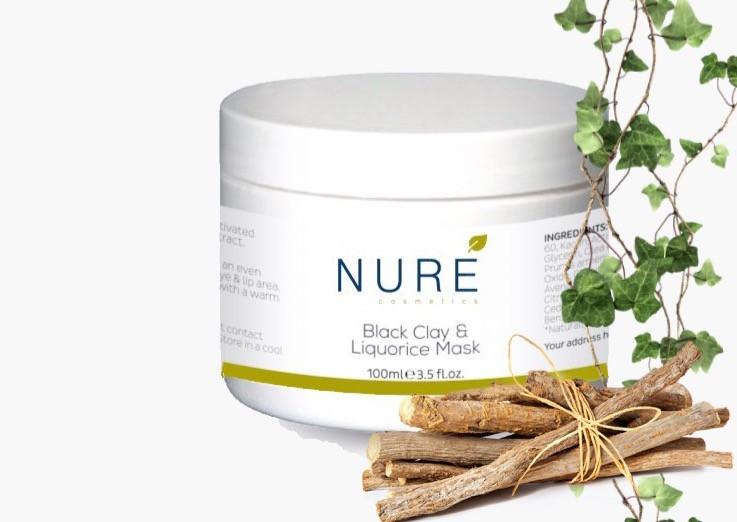 Nure Cosmetics Black Clay & Liquorice Face Mask