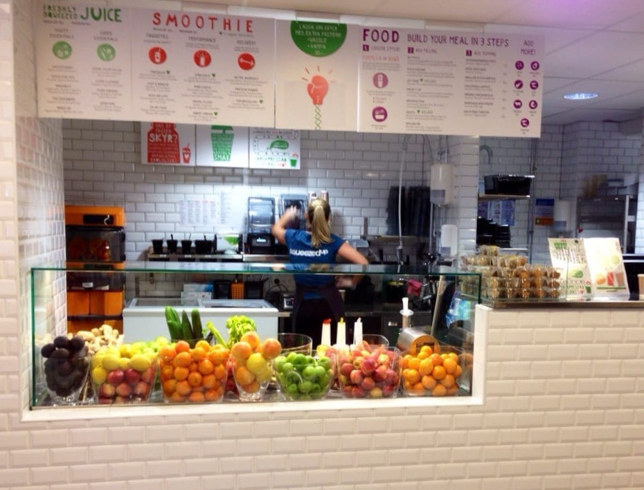 What equipment do you need for a juice bar?