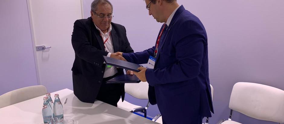 """На выставке """"Нева-2019"""" подписано соглашение о сотрудничестве ЗАО """"НЕФТЕФЛОТ"""" и АО """"АБ РОССИЯ""""."""