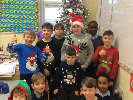 All dressed up for Santa in Fourth Class