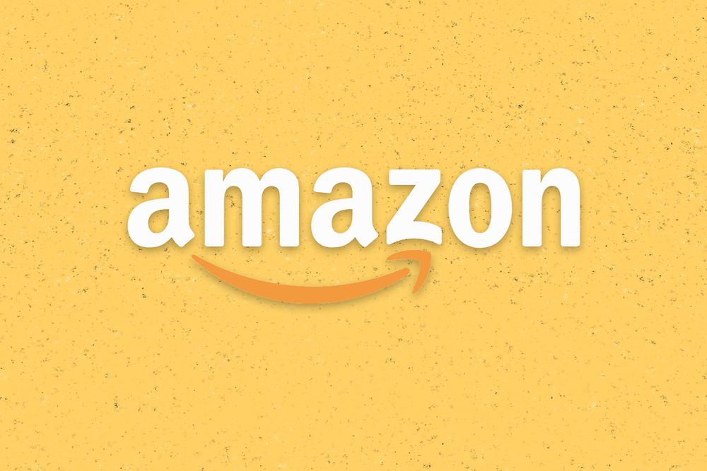 Amazon Logo in Yellow Background