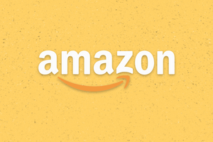 Amazon Logo in Yellow Background