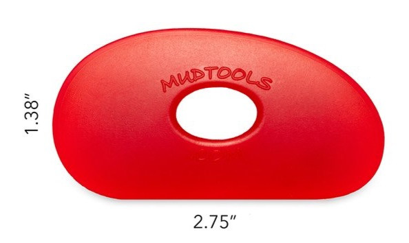 Red Mudtools throwing rib