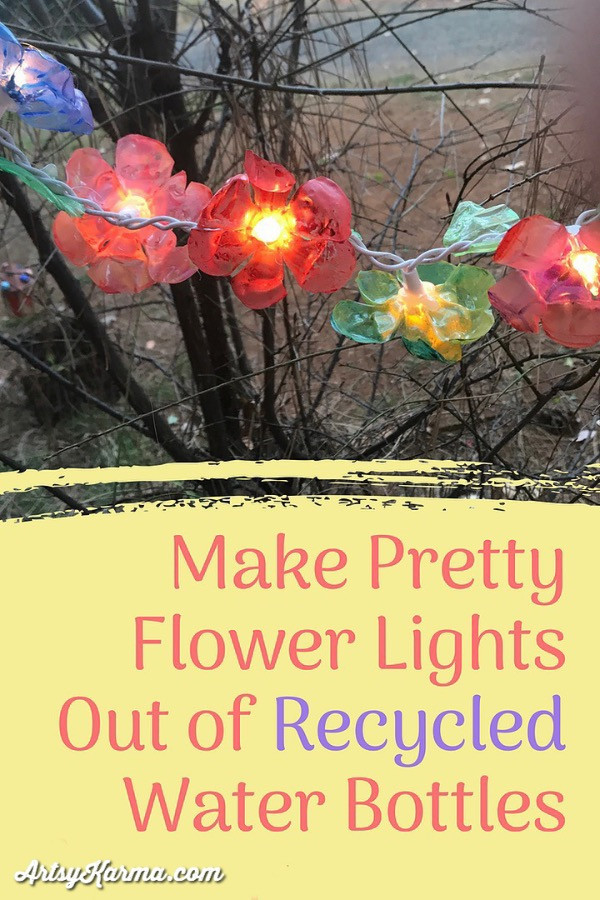 make flowers out of recycled plastic bottles