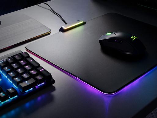 Hyperx Launches Fury Ultra mouse pad features a radiant 360-degree RGB light ring and light bar