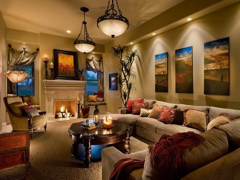 "Another essential aspect of living room designs is its lighting, which is also considered to be the ""macro-structure"" of every environment. So, you must learn to experiment with different shades of light, and other materials that reflect light, like mirrors, to make the room feel bright and colorful."