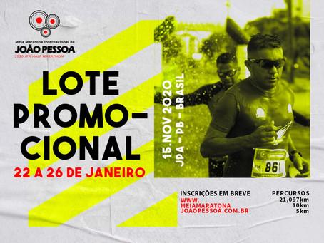 MEIA MARATONA INTERNACIONAL DE JOÃO PESSOA lança inscrições a partir de 22.01.2020