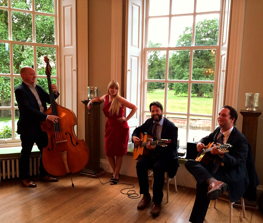 Jonny Hepbir Gypsy Jazz Quartet Play For Kool & The Gang Family Wedding