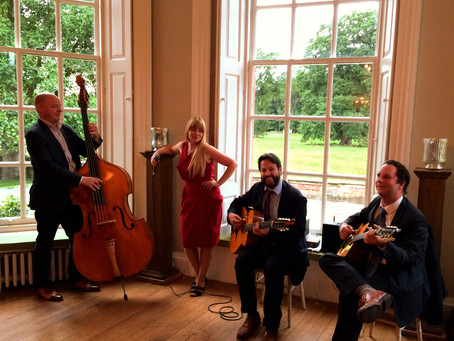 Wedding Music Hire In London | Jonny Hepbir Gypsy Jazz Quartet Play At Kool & The Gang Wedding
