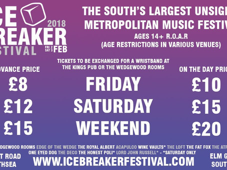 Icebreaker Festival ticket and wristband exchange information.