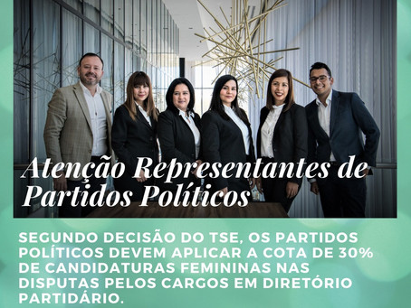 TSE entende ser aplicável reserva de gênero para mulheres nas eleições para órgãos partidários